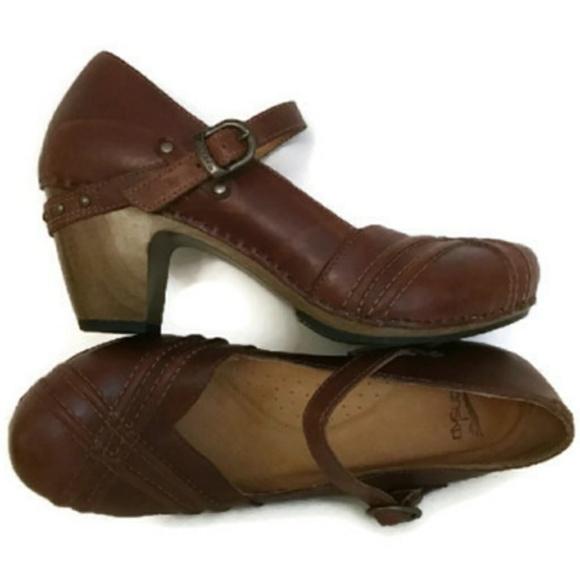 182e572b5f82 Dansko Shoes - Dansko Reeny 9.5-10 Mary Jane Wood Heel Clog 40